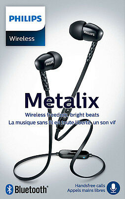 Philips SHB5850 BK Bluetooth-Kopfhörer Metalix kabellos Headset Mikrofon In-Ear