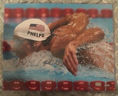MICHAEL PHELPS AUTO OLYMPIC GOLD Authentic Autographed 16 X 20 Photo Tristar COA