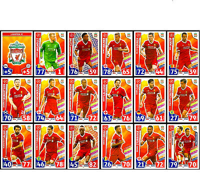 LIVERPOOL FC - MATCH ATTAX 2017/18 Champions League 2018 - BUY 2 GET 10 FREE