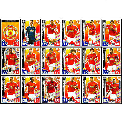 MANCHESTER UTD - MATCH ATTAX 2017/18 Champions League 2018 - BUY 2 GET 10 FREE
