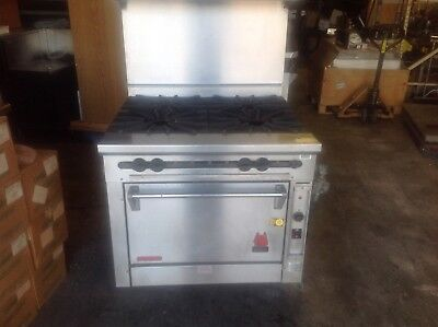 """36"""" Wolf Kfs-4-27 Range With Convection Oven"""