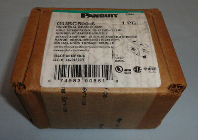 Panduit GUBC500-6 Universal Beam Grounding Clamp GUBC5006 #6S0L-500 kcmil NEW