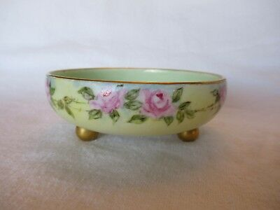 """T & V Limoges, France 5"""" Across, Three Footed Bowl"""