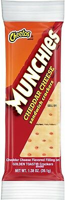 Munchies Cheddar Cheese Flavored Sandwich Crackers (3 Oz. Ea., 32 Pk.)