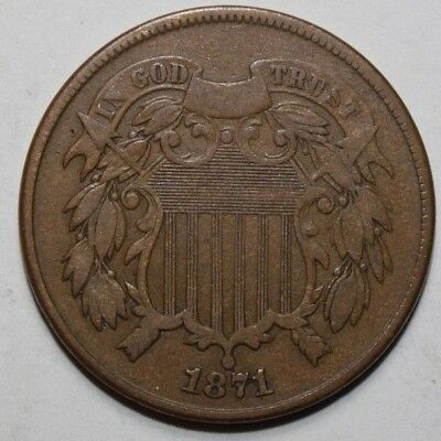 1871 Two Cent Piece   LL2
