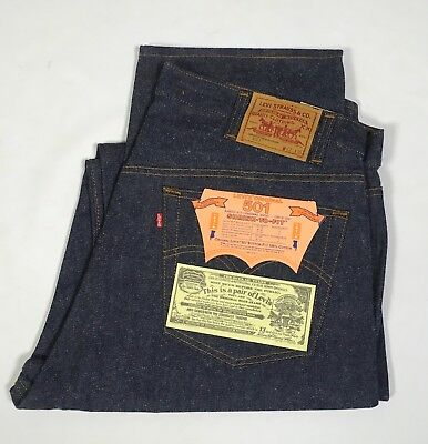 VTG NWT Levi's 501 Denim Jeans 42 x 36 Button Fly 1984 Shrink To Fit Cotton USA