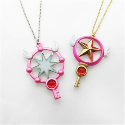 Anime Cosplay Card Captor Sakura Kinomoto Sealing Wand Girl Necklace Accessories