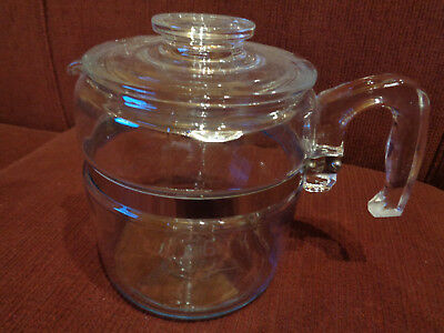 Vintage Pyrex 6 Cup Glass Coffee Pot Percolator 7756B  Pot And Lid Only