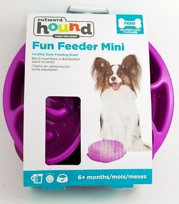 Outward Hound Fun Feeder Mini Slow Feed Interactive Bloat Stop Dog Bowl 8""
