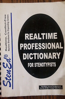 Sten-Ed Realtime Pofessional Dictionary for Stenotypist