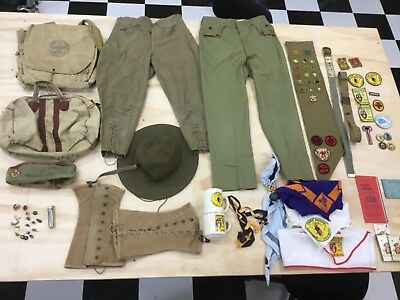 Lot Vintage BOY SCOUTS OF AMERICA 1940-1970s MERIT BADGES & CARDS Patches pants