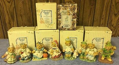 7 Themed Cherished Teddies Dressed As Fairy Tale Figures - Snow White, Alice