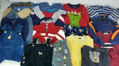 Boys 24 Months 2T Kids Fall Winter Outfit Lot Sweaters Shirts Jeans Pants Vest