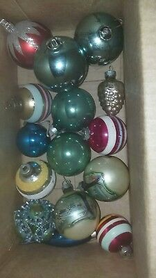 Vintage Variety lot of Mercury/Glass Christmas Ornaments Includes Shiny Brite