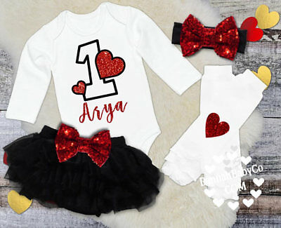 Baby Girl First Birthday 1 Year Old Outfit Personalized