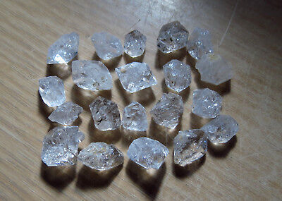 20pc HIMALAYAN DIAMOND QUARTZ natural EARTH MINED DOUBLE TERMINATED dt CRYSTALS