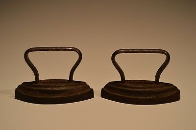 Lot of 2 ANTIQUE SLEEVE Collar OBERS CHILDS CAST IRON