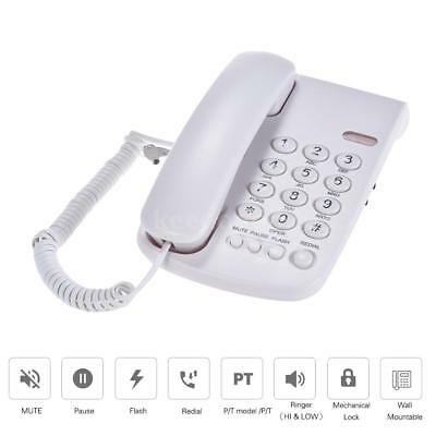 Wall Mount Desktop Corded Telephone Phone Mute Home Office Hotel Call Center New