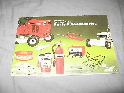 IH International Harvester Power Lawn Products Parts and Accessories Catalog