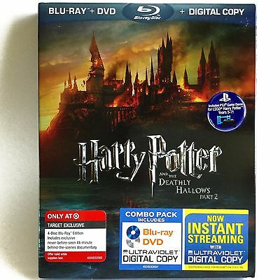 Harry Potter and the Deathly Hallows Pt. 2 (4-Disc Blu-ray/DVD) NEW ! w/ Slip !