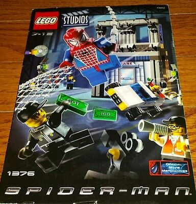 Lego 1376 Spider-Man Action Studio RETIRED 2002 Complete 244 Pieces