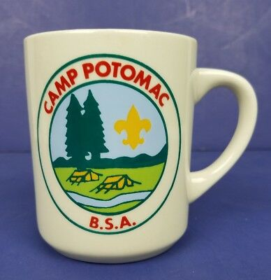 BSA Camp Potomac boy scouts of America cup mug made in the USA