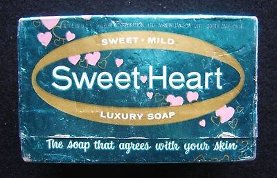 Vintage Sweet-Heart Soap in Box Unopened, Made in U.S.A.