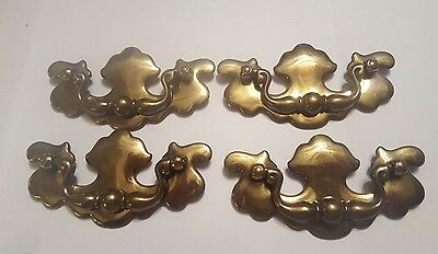 Antique Style Polish Brass Color Large Dresser Drawer Pull Handles