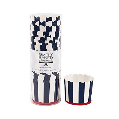 Simply Baked Large Paper Baking Cup, Red, White, And Blue, 24-Pack, Disposable