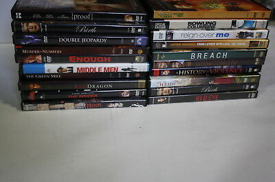 Lot of 20 Mixed DVDs Action & Drama Movies .... (Lot #15)