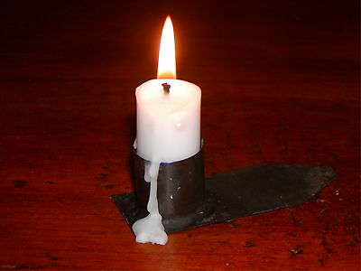 Primitive 18th C. style American Revolutionary War (1775-1783)Tin Candle Holder