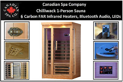 Canadian SPA CHILLIWACK 1 Person FAR Infrared Sauna 6 Carbono Infrarrojo