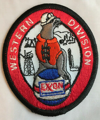 Exxon Oil Company Western Division Embroidered Patch - Gasoline Petroleum