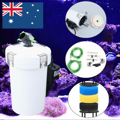 Aquarium External Canister Fish Tank Water Filter With water pump Sponge Pond
