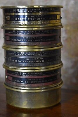 Antique Brass Griffin & George Endecotts Test Sieve Endecotts Sciencific Vintage