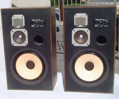 CHOICE AKAI SW-157 3 WAY Vintage SPEAKERS with 12 in woofers RARE MODEL