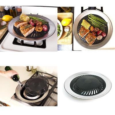 SMOKELESS STOVE TOP Grill Indoor Grilling Non Stick Barbeque ...