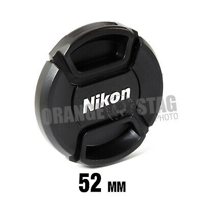 52mm Centre Pinch lens cap for Nikon Lenses fit 52mm filter thread - UK SELLER