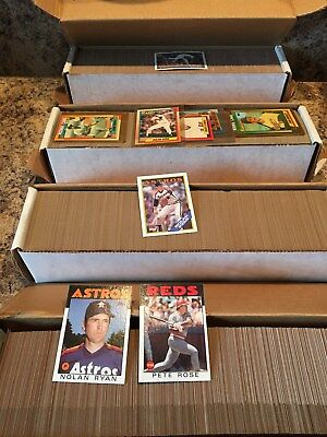 4 COMPLETE SETS 1986 1988 1990 1991 TOPPS - GREAT LOT OF 3168 cards !!