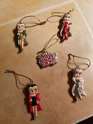 Betty Boop Christmas Ornament Set 5 Piece Kurt Adler