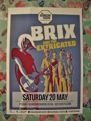 BRIX AND THE EXTRICATED - LARGE GIG FLYER - GEORGIAN THEATRE- Stockton on Tees