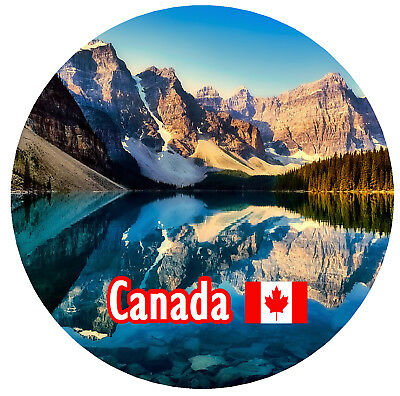 Canada - Round Souvenir Fridge Magnet - Sights / Flags / Brand New / Gifts