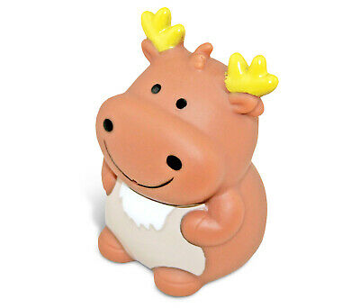 Mozlly Dollibu Bath Buddies Moose Rubber Squirter Toy (Multipack of 3) Toddler B