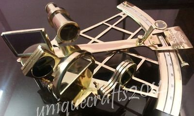 Antique Shiny Brass Nautical Sextant Ships Working Astrolabe Sextant Royal Gift.