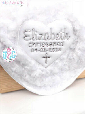 Personalised Baby Christening Blanket