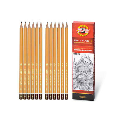 Koh-I-Noor Professional Graphite Pencils 8B - 10H Drawing Sketching Illustration