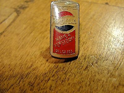 Vintage Pepsi Cola Can Enamel Lapel Pin Have a Pepsi Day 12 oz Old style Can Top