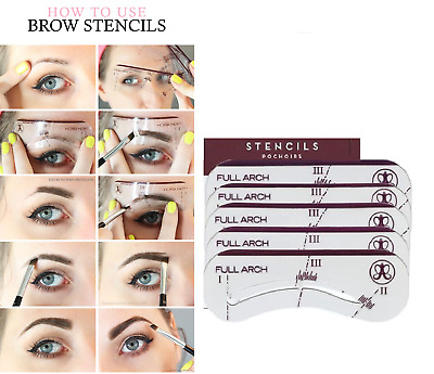 PRO EYEBROW SHAPER Template Stereo Stencils Shaping Brow Grooming ...