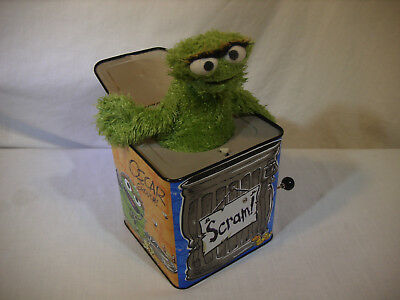 Sesame Street Oscar the Grouch Jack in the Box No Sound Still Pops! Sababa Toys