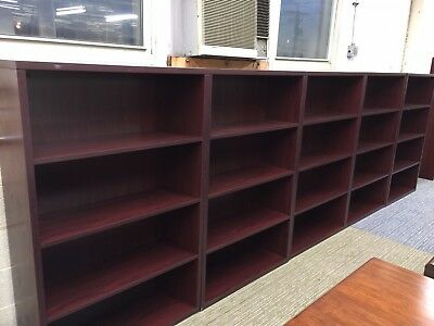 "36""Wx13""Dx57""H HEAVY DUTY BOOKCASE in MAHOGANY LAMINATE by HON OFFICE FURNITURE"